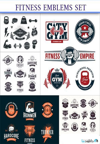 Fitness-Emblems-Set