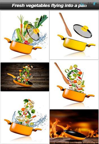 Fresh-vegetables-flying