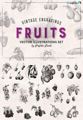 Fruits-Engravings-Set