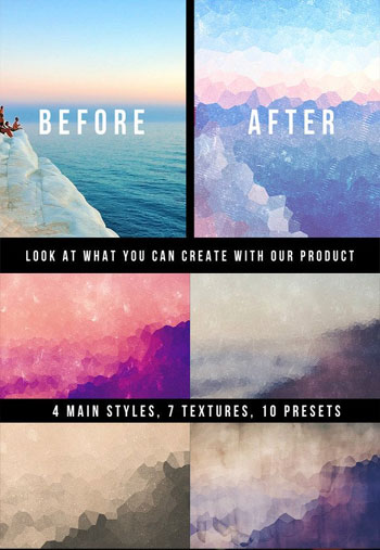 Geometric Backgrounds Creator Photoshop Action