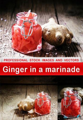 استوک-Ginger-in-a-marinade