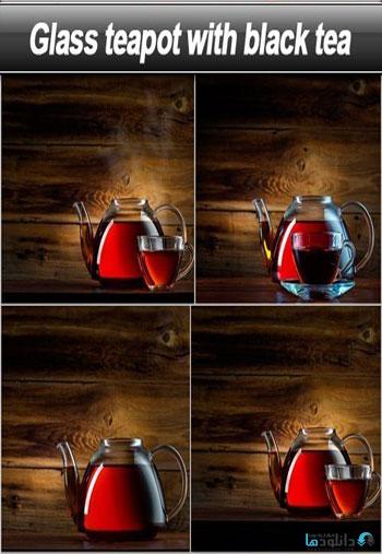 Glass-teapot-with-black-tea