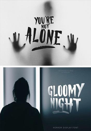 Gloomy-Night-Display-Font
