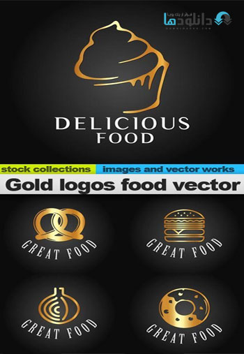 Gold-logos-food-vector
