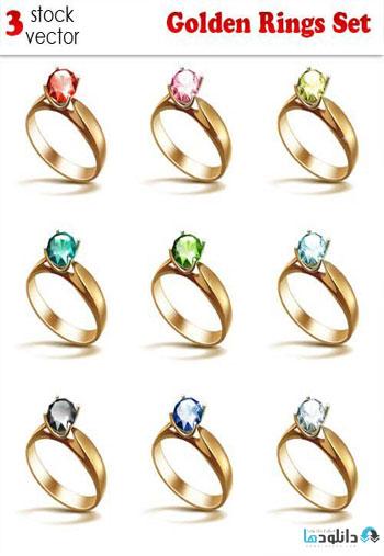 Golden-Rings-Set