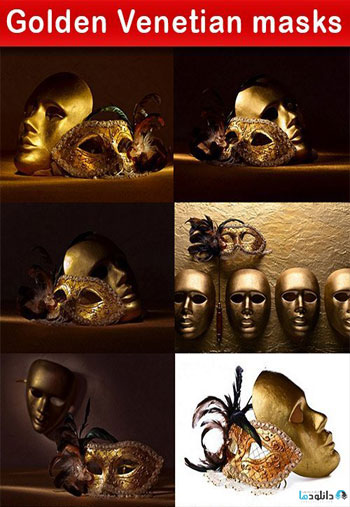 Golden-Venetian-masks