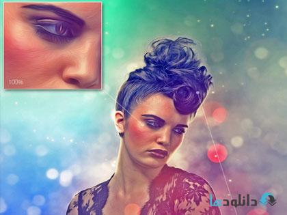 GraphicRiver act04  دانلود اکشن فتوشاپ ساخت پرتره نقاشی با افکت بوکه از گرافیک ریور   GraphicRiver Portrait Photoshop Action