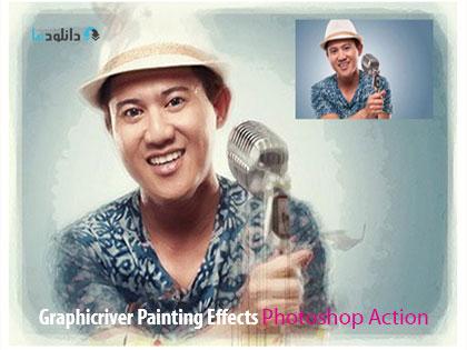 Graphicriver Painting Effects Photoshop Action  دانلود اکشن فتوشاپ ایجاد افکت نقاشی بر روی تصاویر از گرافیک ریور   Graphicriver Painting Effects Photoshop Action