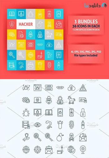 Hacker-Line-Art-Icons