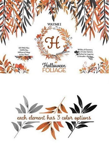Halloween-Leaves-and-Wreath