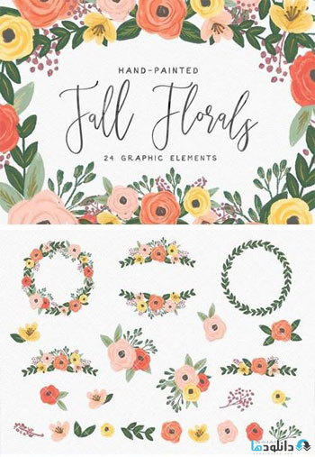 Hand-Painted-Fall-Flowers