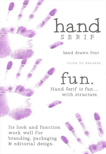 Hand-Serif-a-hand-drawn-fon