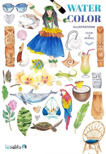 Hawaii---watercolor-design-
