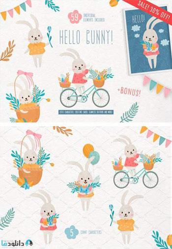Hello-Bunny-Cute-Characters