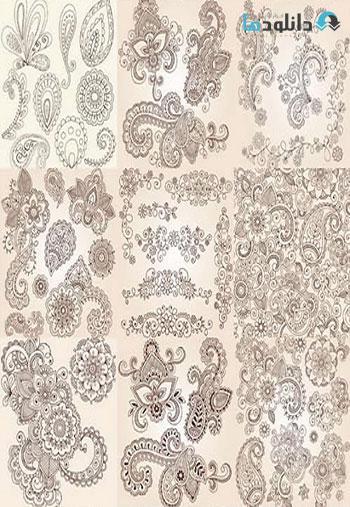 Henna-Doodles-Elements-Vect
