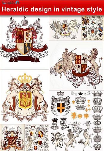Heraldic-design-in-vintage-style