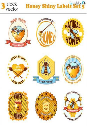 Honey-Shiny-Labels-Set