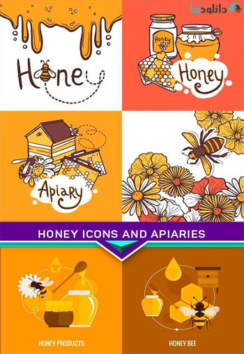 Honey-icons-and-apiaries