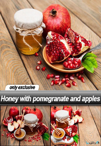Honey-with-pomegranate-and-apples