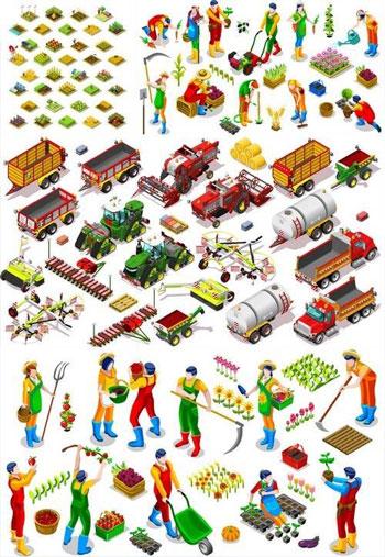 Isometric-Farm-Vehicle