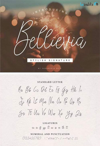 Bellievia-Script-Font