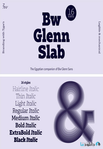 Bw-Glenn-Slab-Font