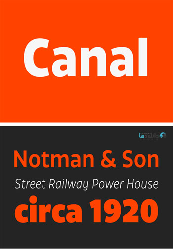 Canal-Font-Family