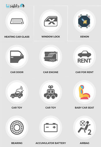 Car-Flat-Icons
