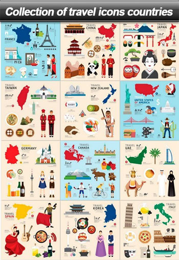 Collection-of-travel-icons-countries