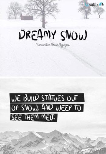 Dreamy-Snow-Font