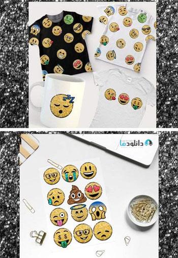 Glitter-Emoji-Clip-Arts