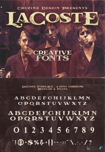 LaCoste-Typeface