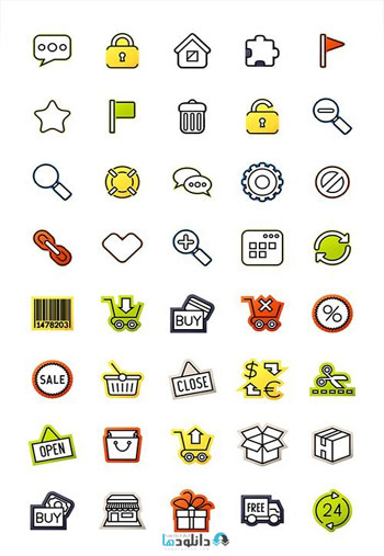 Outline-icons-thin-flat-design
