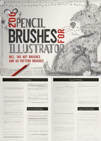 Pencil-Brushes-for-Illustrator