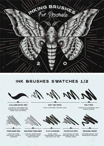 Procreate-Inking-Brushes