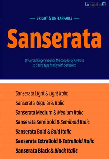 Sanserata-Font