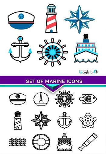 Set-of-marine-icons