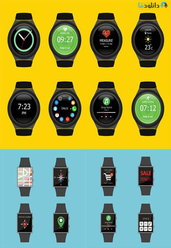 Smart-Watches-Icon-set