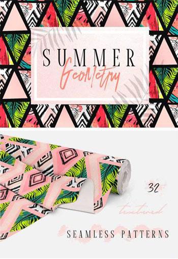 Summer-Geometry-Pattern-Set