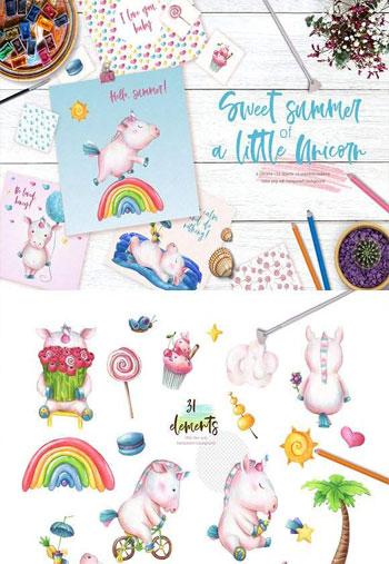 Sweet-Summer-of-a-Little-Unicorn-set