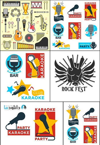 Jazz-festival-logos-set