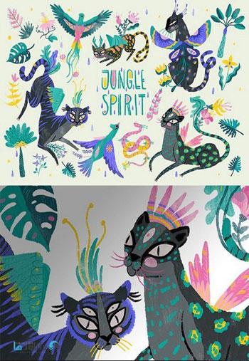 Jungle-Spirit-Clip-Art-Set