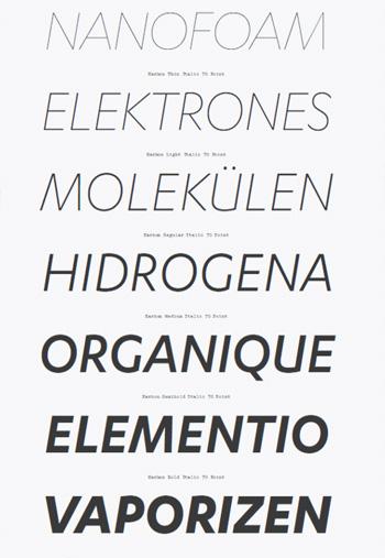 Karbon-Font-Family
