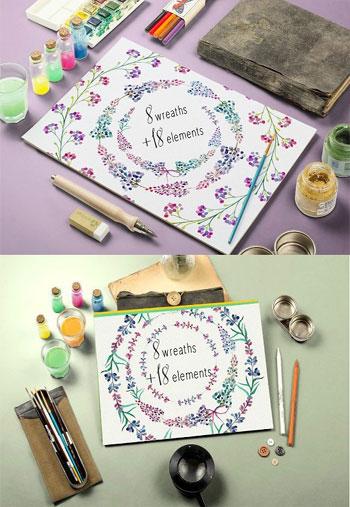 Lavender-floral-clip-art-wr