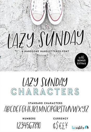 Lazy-Sunday-Font