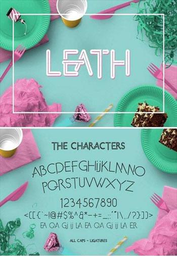 Leath-Display-Fonts