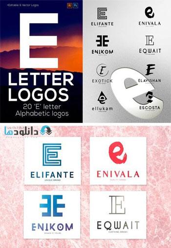 Letter-Alphabetic-Logos-e