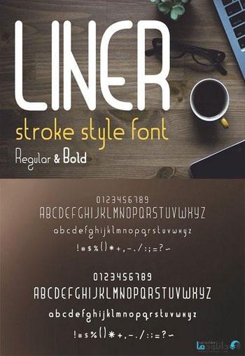 Liner-font