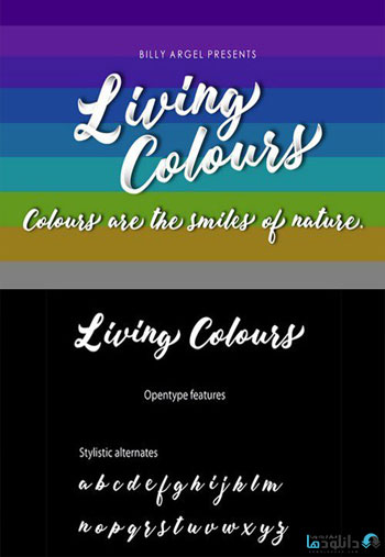 Living-Colours-Script-Font