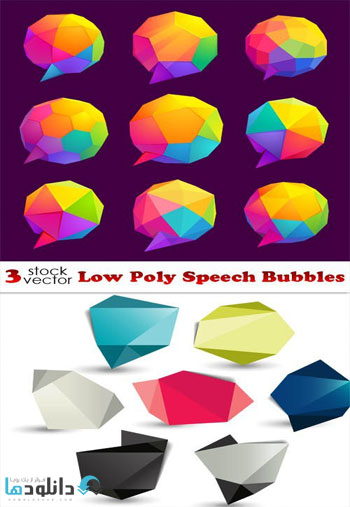Low-Poly-Speech-Bubbles